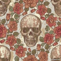 Skull background pattern 08 vector material