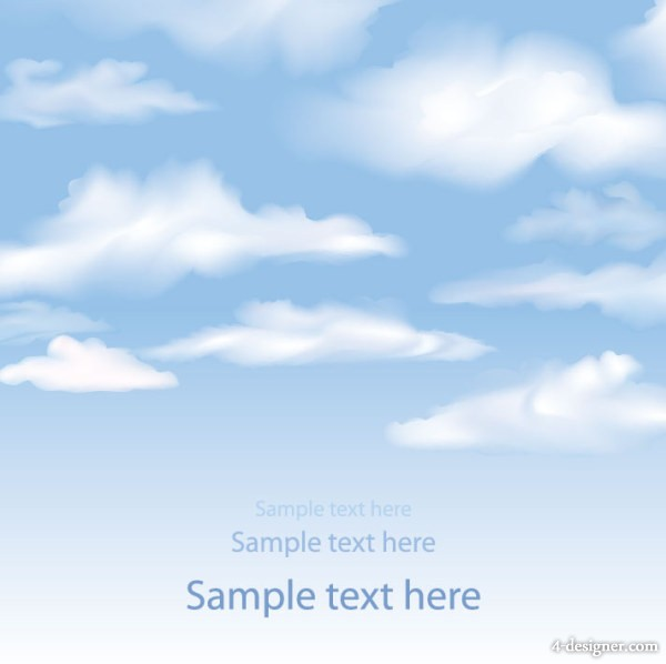 Sky clouds background 02 vector material