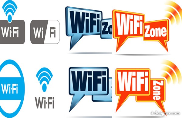 WiFi wireless network icon vector material