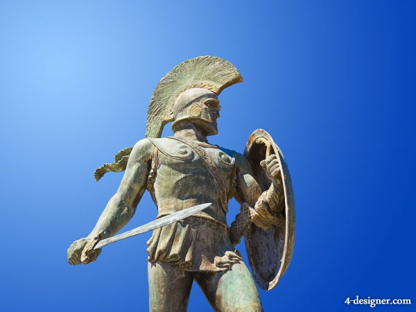 Ancient Greek warrior sculpture HD pictures