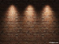 Brick wall with spotlights HD pictures