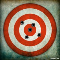 Bullet holes and target 01 HD Photo