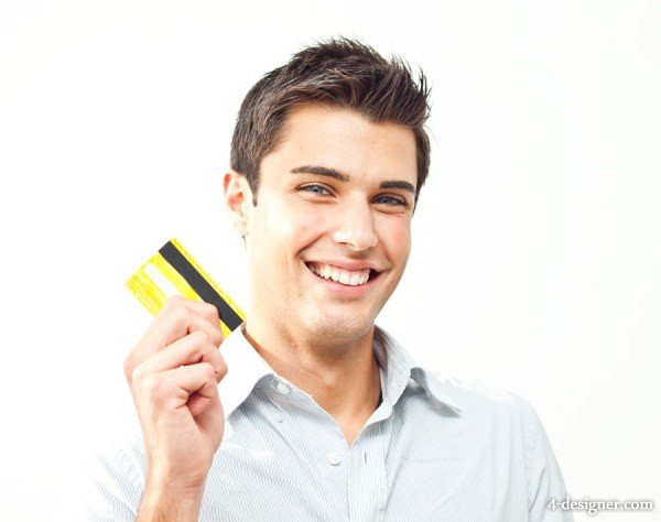 Business people credit card HD pictures