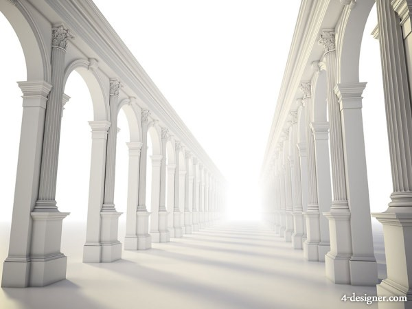 Classical colonnade HD pictures