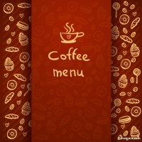 Coffee Label 05 vector material