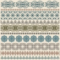 European classic lace pattern vector material 01