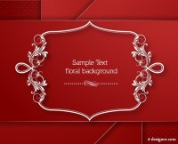 Exquisite artwork border 03 vector material