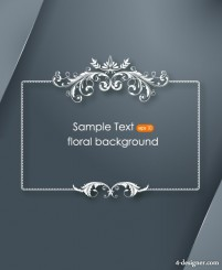 Floral border corners 03 vector material