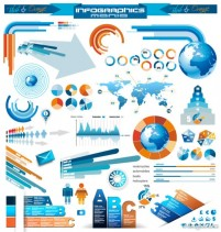 Infographics and chart design elements vector set 22 05