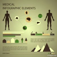 Medical infographics 02 vector material