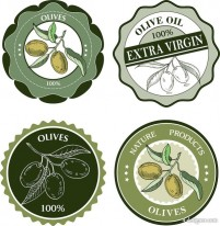 Olive oil bottle stickers