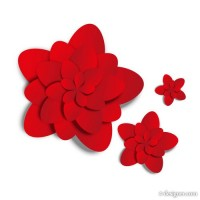 Red flowers vector material