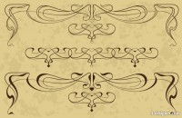 Retro artwork lace 02 vector material
