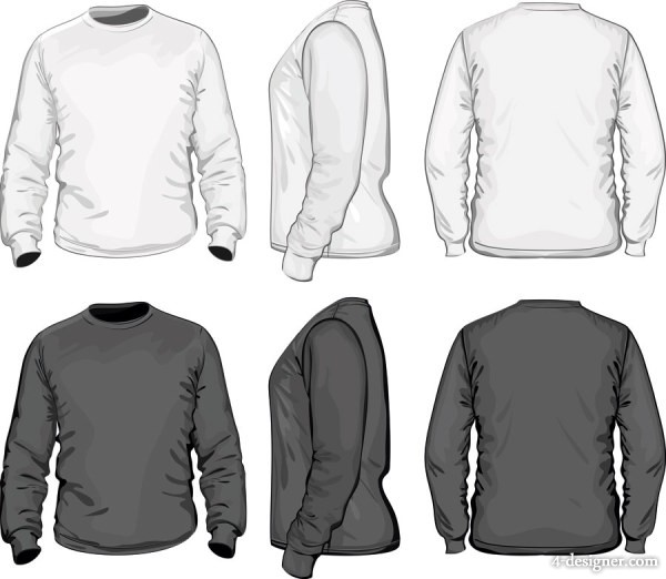 Stereo Shirt Template 05 Vector Material