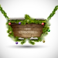 Christmas plate vector material