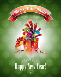 Christmas poster template vector material 1