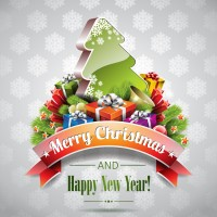 Christmas poster template vector material 2