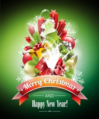 Christmas poster template vector material 3