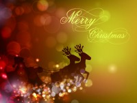 Fantasy Christmas background vector material 1