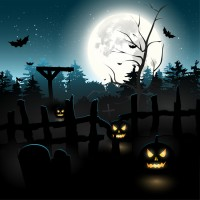 Halloween theme vector material 1