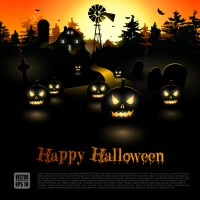 Halloween theme vector material 2