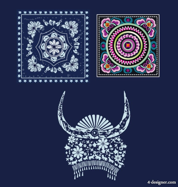 60Designer Hmong Batik Embroidery Pattern Headdress Delectable Hmong Pattern
