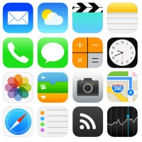 Ios7 icon vector material