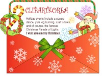 Playful Christmas card vector material 1