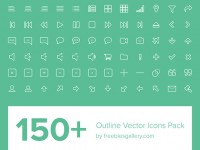 150 wireframe vector icon EPS PNG
