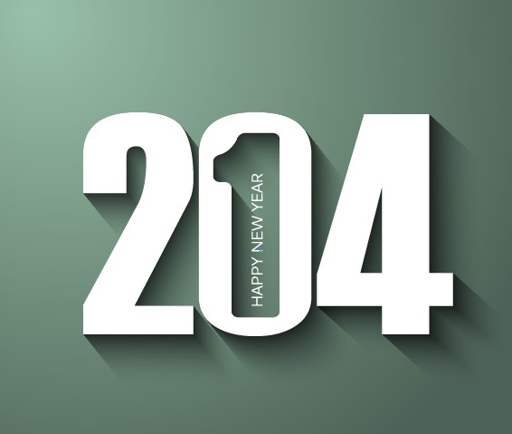 Creative 2014 New Year font vector material