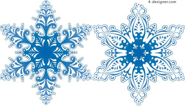 Winter Background Vector Free Vector Download 45 386 Free: 2 Beautiful Snowflake Pattern Vector Material