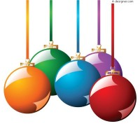 2 exquisite Christmas hanging ball EPS vector materials