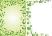 2 green lace vector material