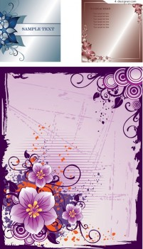 3 patterns and stationery vector material
