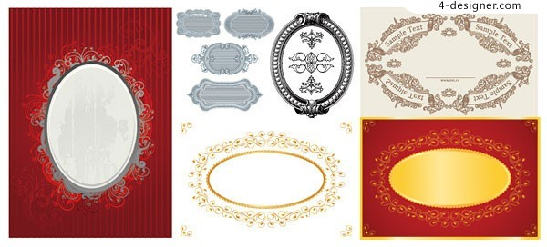 6 frame lace vector material