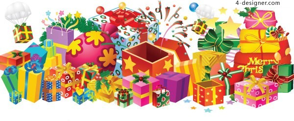 A Christmas gift vector material