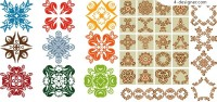 A variety of Chinese traditional lace pattern vector material