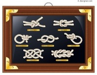 All kinds of knots and frames vector material