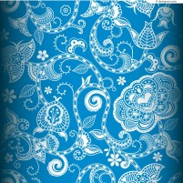Beautiful blue pattern background vector material