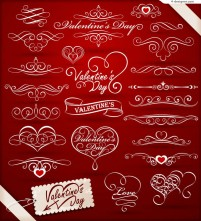 Beautiful pattern for Valentine s Day vector material