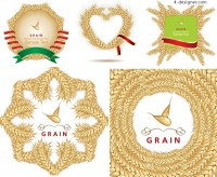 Border consisting of wheat vector material