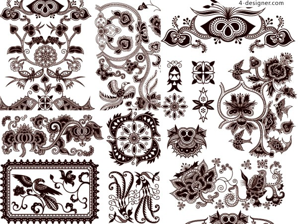 Chinese classical tradition pattern vector material