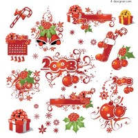 Christmas decorative element vector material