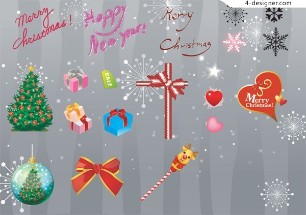 Christmas gifts AI vector material