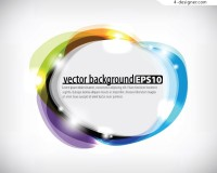 Colorful cloud decorative border vector material
