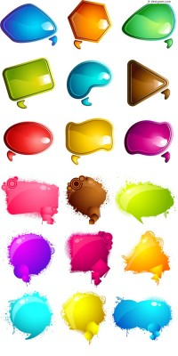 Colorful dialog box vector material