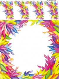 Colorful foliage decoration vector material