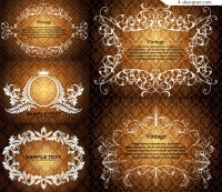 Continental decorative ornate classical lace vector material