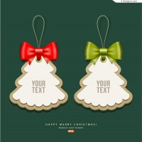 Creative Christmas tree tag vector material