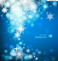 Crystal snowflake background vector material